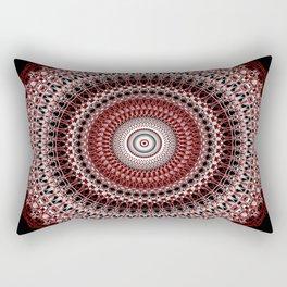 Whirls of Maroon Rectangular Pillow
