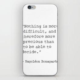 Napoleon typed quote iPhone Skin