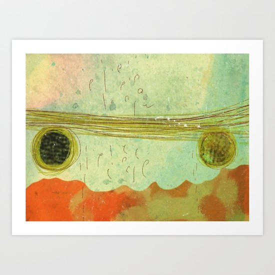 storm at the bay Art Print