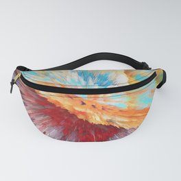 Abstract Pastel Explosion Fanny Pack