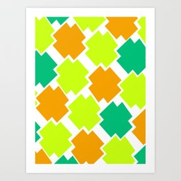 GRAPHIC SQUARES Art Print