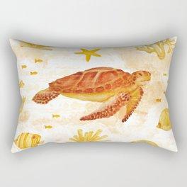 Hawksbill Sea Turtles Rectangular Pillow