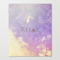 relax Canvas Prints featuring Relax by Rachel Burbee