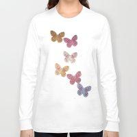 butterflies Long Sleeve T-shirts featuring Butterflies  by Sammycrafts