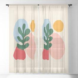 Wildlife   Cutouts by Henri Matisse Sheer Curtain