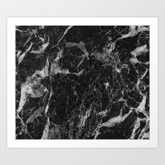 Campari - black marble Art Print