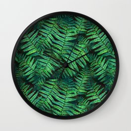 Among the Fern in the Forest Wall Clock