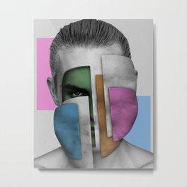 Abstracta Colorful Face 1 Metal Print