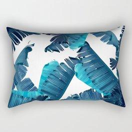 Banana Blue Rectangular Pillow