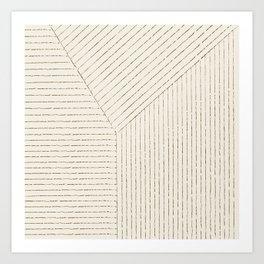 Lines (Cream & Chocolate) Art Print