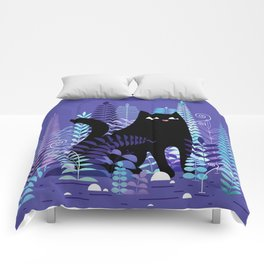 The Ferns (Black Cat Version) Comforters