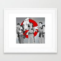 ghostbusters Framed Art Prints featuring ghostbusters by wolfvanhaeren