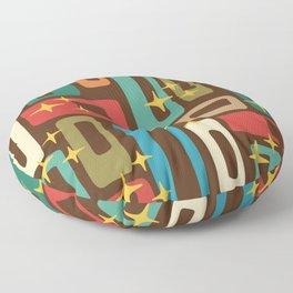 Retro Mid Century Modern Abstract Pattern 222 Floor Pillow