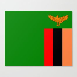 Flag of Zambia Canvas Print
