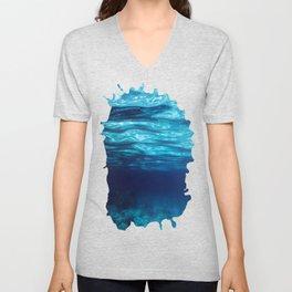 Blue Underwater Unisex V-Neck