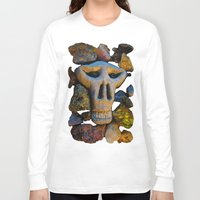 minerals Long Sleeve T-shirts featuring skull and minerals by giol's