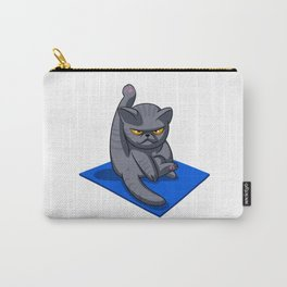 Yoga cat - Angry cat - grey cat - fat cat Carry-All Pouch