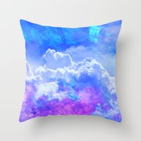 heaven Throw Pillows featuring Heaven by Cale potts Art
