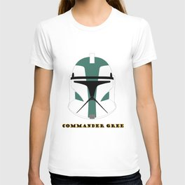 Helmet clone trooper commander gree T-shirt