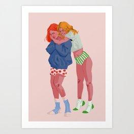 Soft girlfriends Art Print