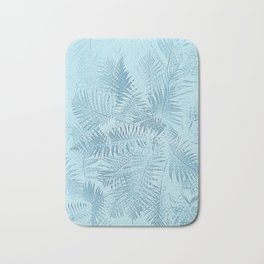 Abstract Tropical leaves Bath Mat