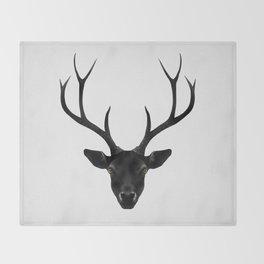 The Black Deer Throw Blanket