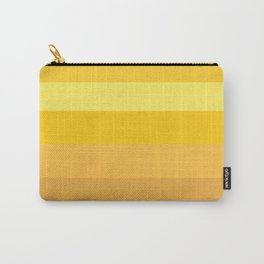 Afternoon Sun Rays - Golden Yellow Variable Stripe Pattern  Carry-All Pouch