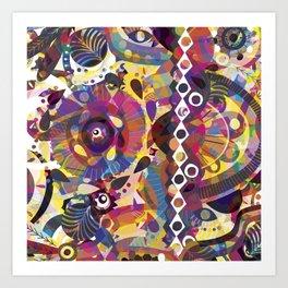 Inside my mind Art Print