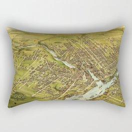 Bird's eye view of the City of Bangor, Penobscot County, Maine (1875) Rectangular Pillow