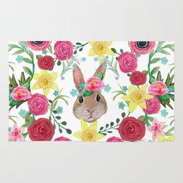 Easter rabbit floral beauty Rug