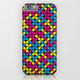 CMYK Base Colours Metaball Pattern iPhone Case