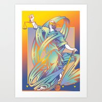 justice Art Prints featuring Justice by David Chestnutt