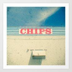Chips Art Print