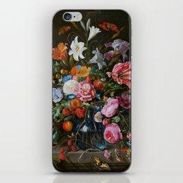 Vase of Flowers II Jan Davidsz de Heem iPhone Skin