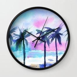 Summer vibes #3 || watercolor Wall Clock