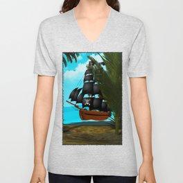 Turquoise Seas Unisex V-Neck