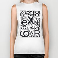 helvetica Biker Tanks featuring HELVETICA by Typography Photography™
