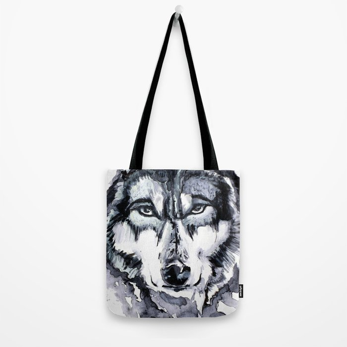 Abstract Wolf - Zoomed Tote Bag