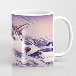 A Pair of Siberian Huskys Coffee Mug