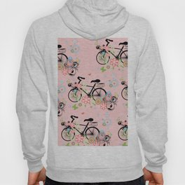 Bicycle and Colorful Floral Ornament Hoody
