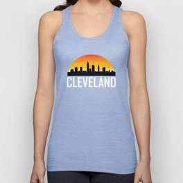 Sunset Skyline of Cleveland OH Unisex Tank Top