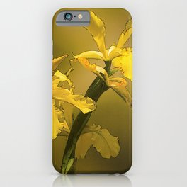 Golden Yellow Daffodils iPhone Case