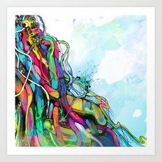 1/2 Art Print