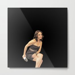 Tina Fey - Celebrity (Oil Paint Art) Metal Print