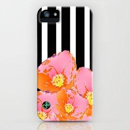 Poppy Stripes - Pink iPhone Case