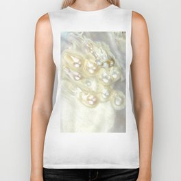 Shimmery Pearly Abalone Shell Biker Tank