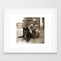 friendship Framed Art Prints featuring Friendship by Seamless