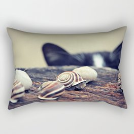 Cat Snails Rectangular Pillow