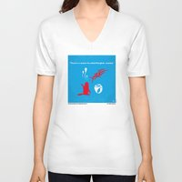 mercedes V-neck T-shirts featuring No145 My HANGOVER PART 2 minimal movie poster by Chungkong