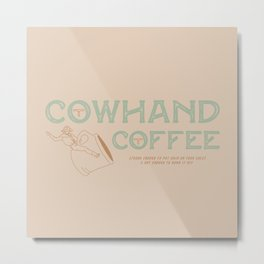 Cowhand Coffee - Mint, Mauve & Cream Metal Print
